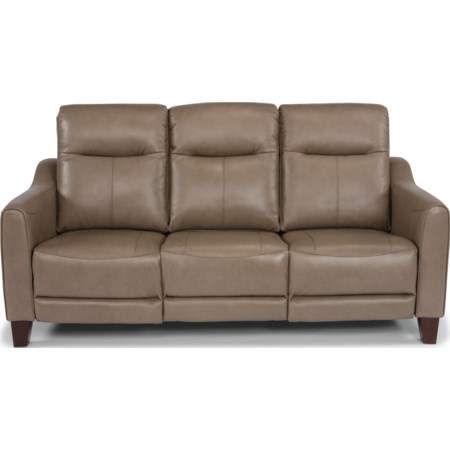 Leather Match Power Reclining Sofa