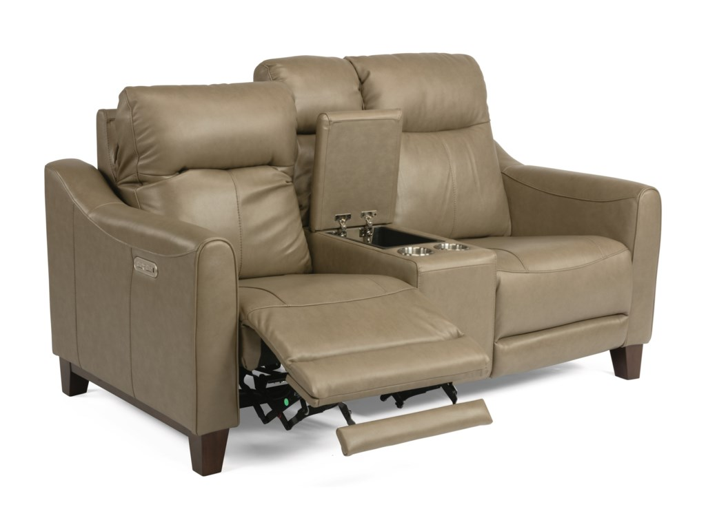 Flexsteel Latitudes - FortePower Reclining Console Loveseat