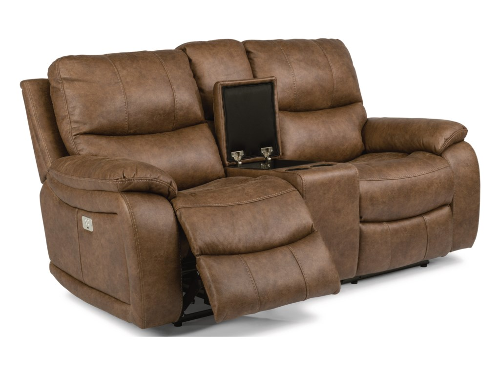 Flexsteel Latitudes - HendrixPower Reclining Console Loveseat