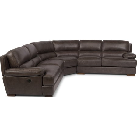 Power Back Reclining Sectional