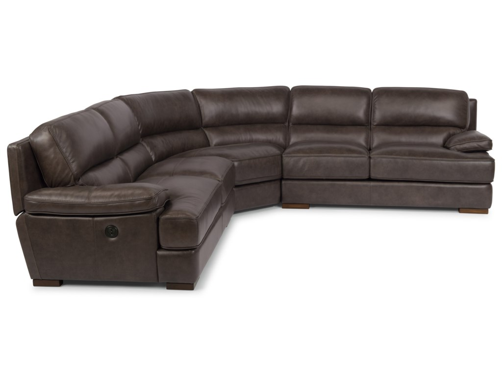 Flexsteel Latitudes - JadePower Back Reclining Sectional