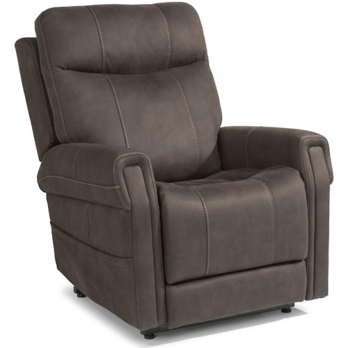 Flexsteel Latitudes - Jenkins Power Lift Recliner with Right-Hand Control and USB Port