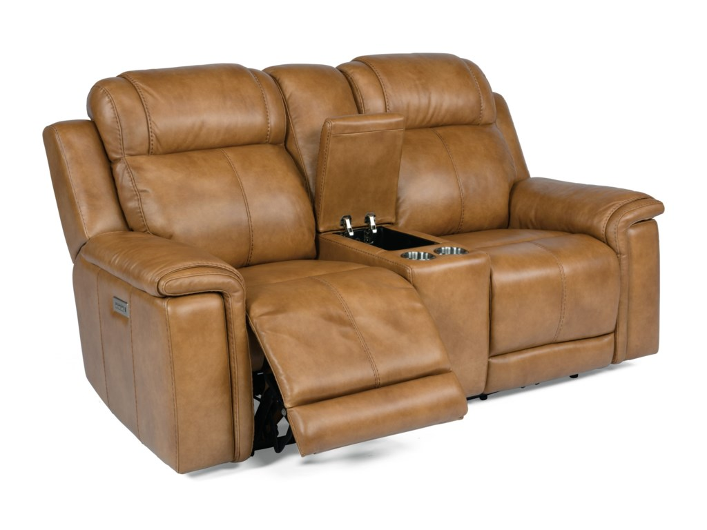 Flexsteel Latitudes - KingsleyLay-Flat Power Reclining Console Loveseat