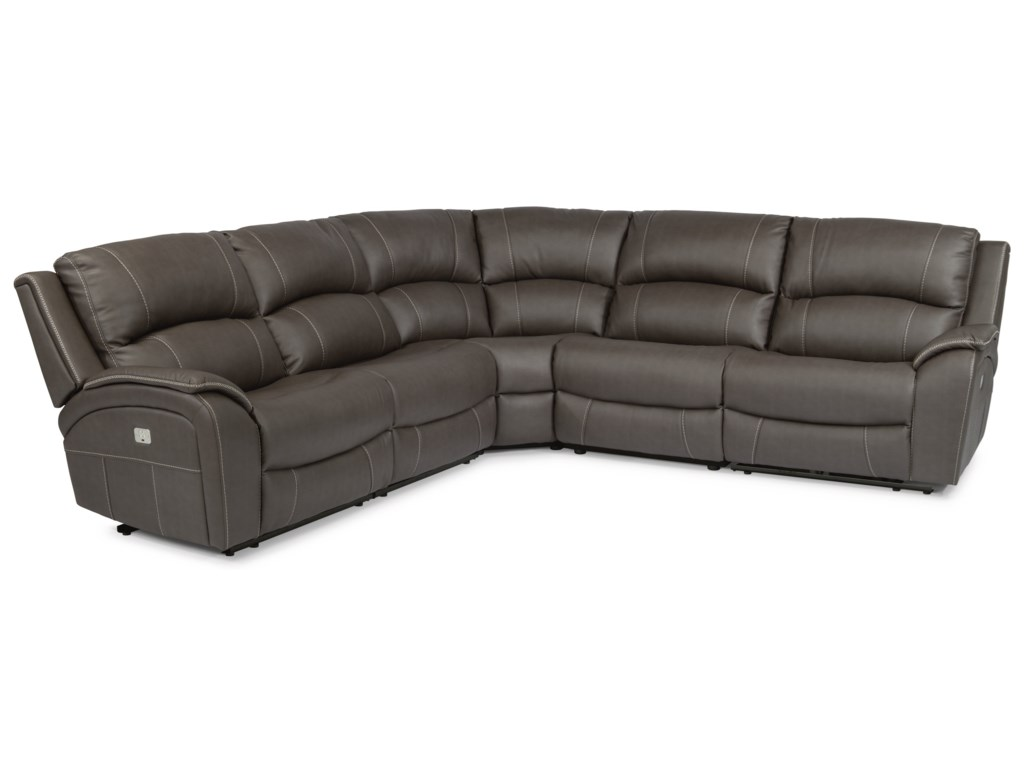 Flexsteel Latitudes - MarinaPower Reclining 4 Seat Sectional