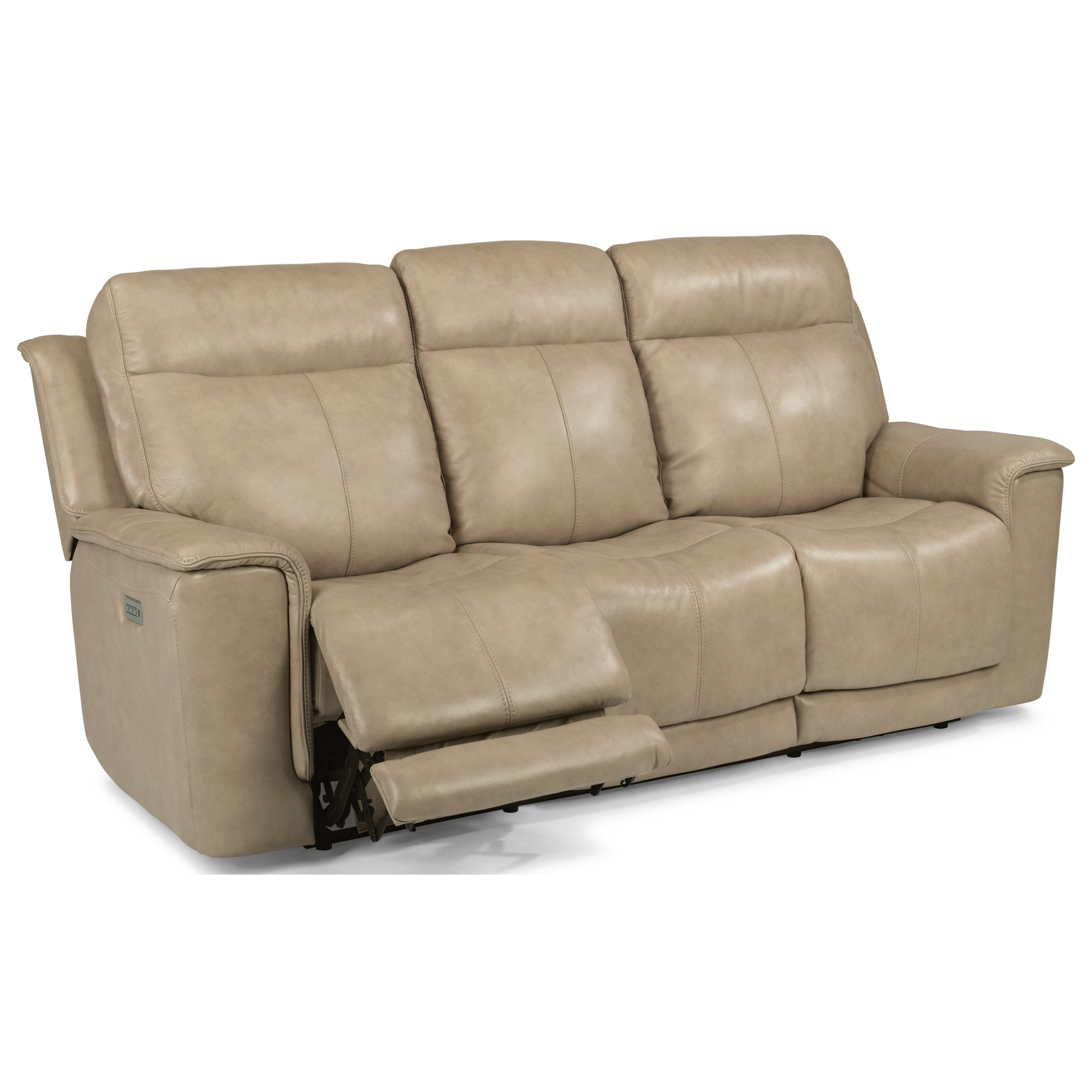 Flexsteel Sofa Leather Flexsteel Port Royal Brown Leather