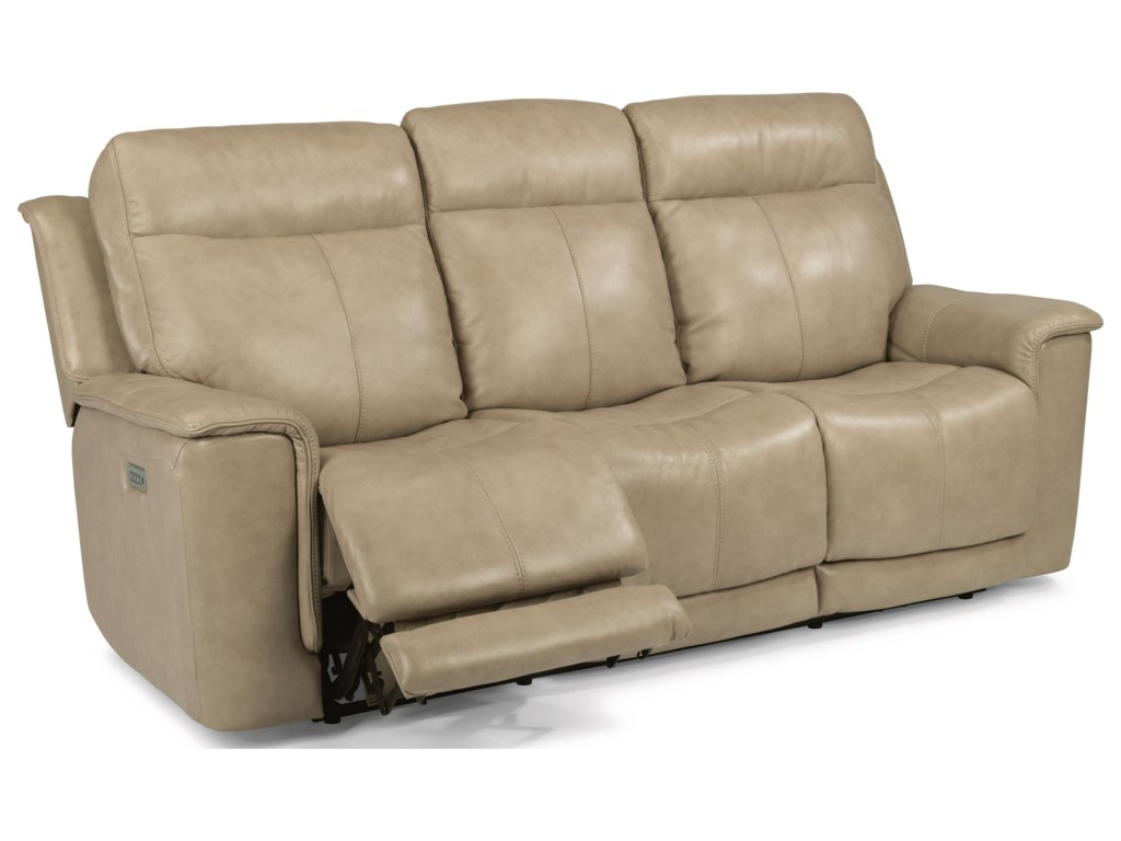 Flexsteel Laudes Miller 1729 62ph Reclining Sofa With Headrests And Adjule Lumbar Furniture Liancemart Sofas