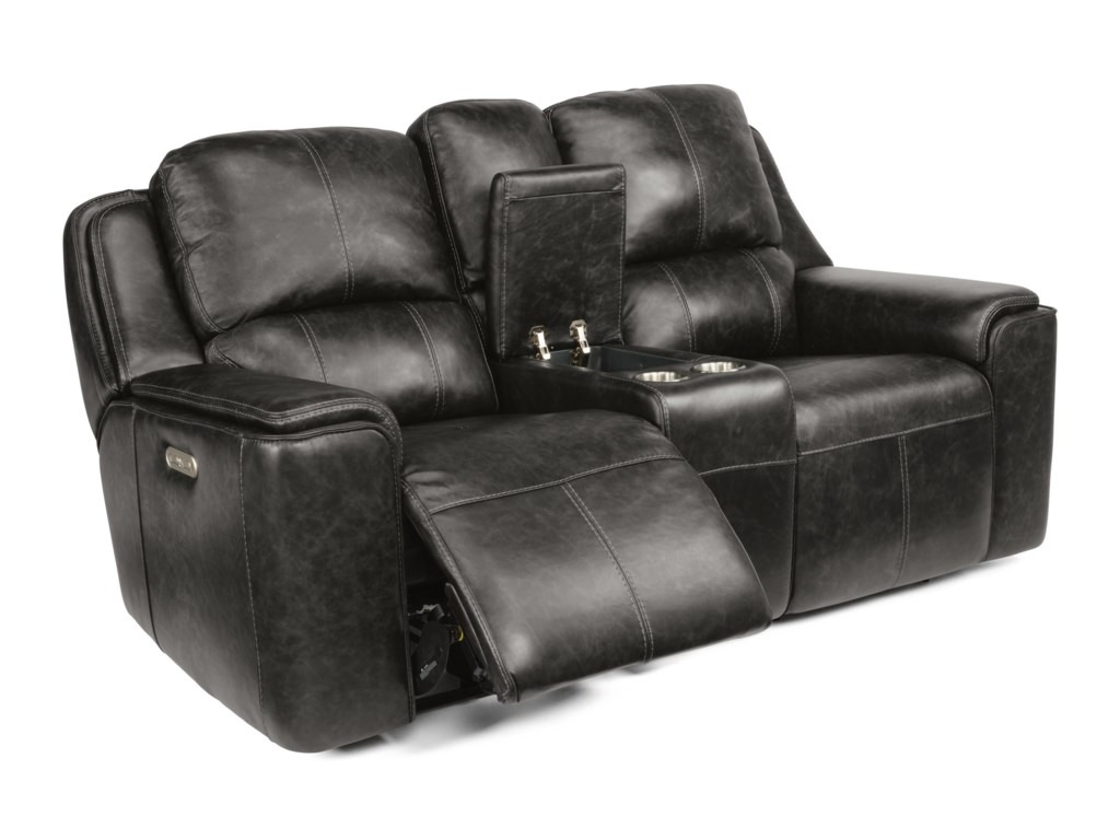Flexsteel Latitudes - MiloPower Reclining Console Loveseat