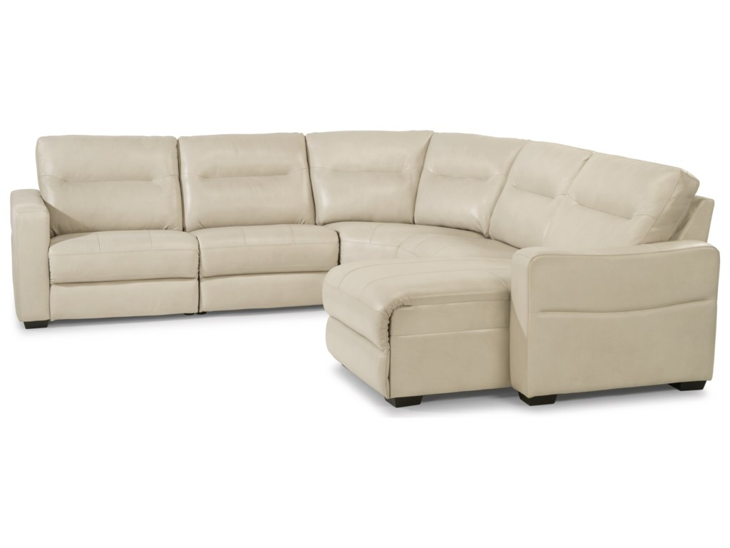 Flexsteel Latitudes - Monet5 Piece Power Reclining Sectional