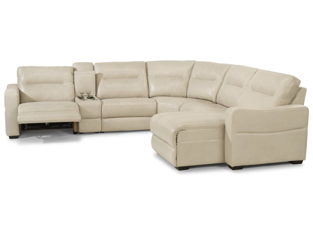 Flexsteel Latitudes - Monet6 Piece Power Reclining Sectional