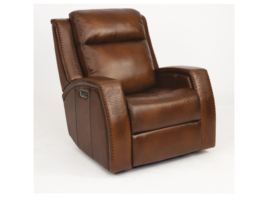 Flexsteel Latitudes - MustangPower Gliding Recliner w/ Pwr Headrest