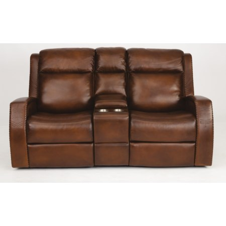 Power Reclining Console Loveseat & Pwr Head