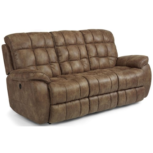 Flexsteel Latitudes - Nashua Casual Power Reclining Sofa with Tufted Seat and Back