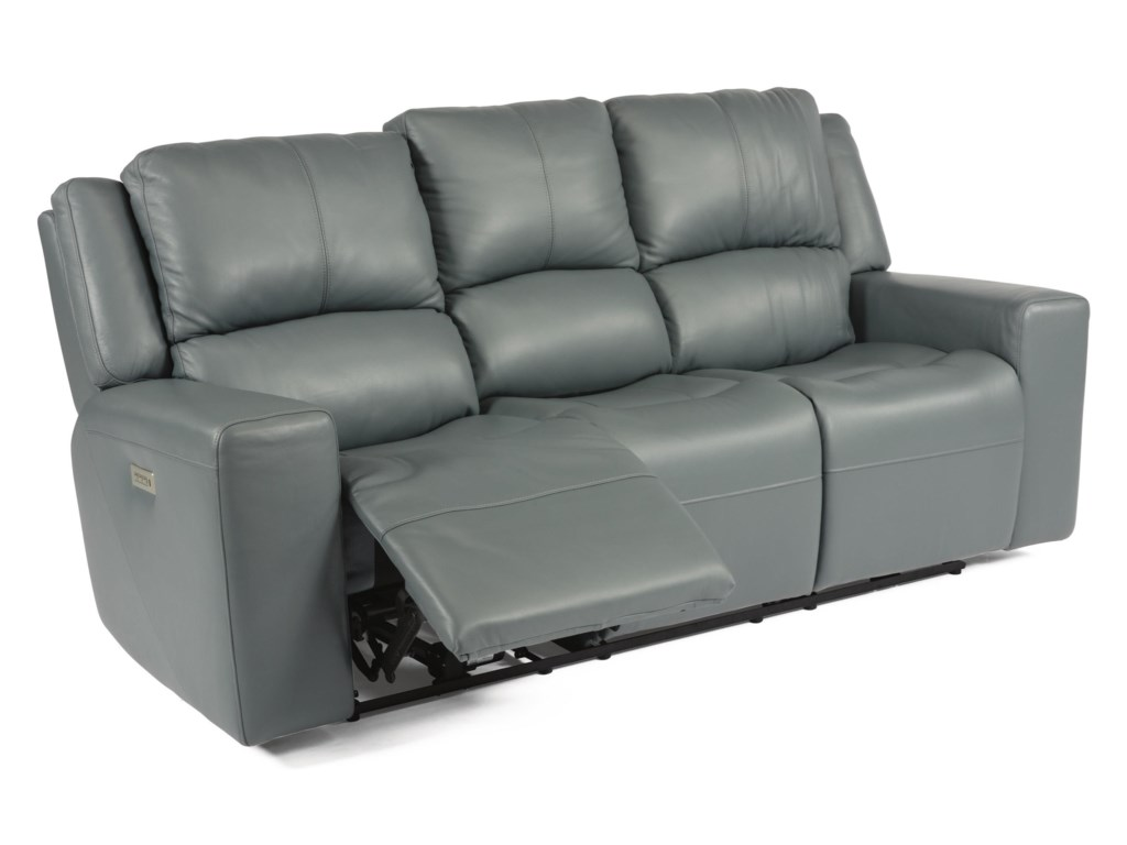 Flexsteel Latitudes - NelsonPower Headrest High Leg Reclining Sofa