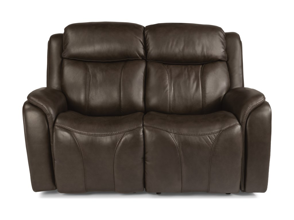 Flexsteel Latitudes - PaisleyPower Reclining Loveseat with Power Headrest
