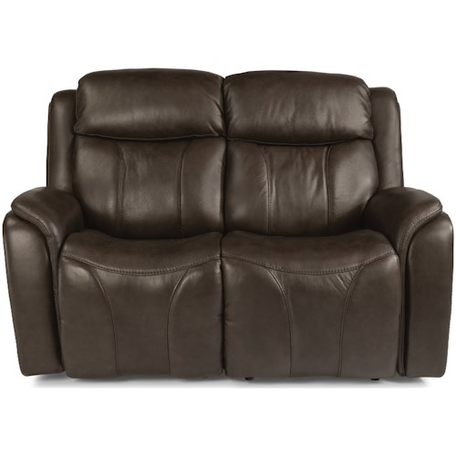 Flexsteel Latitudes - Paisley Contemporary Power Reclining Loveseat with Power Headrest and Lumbar