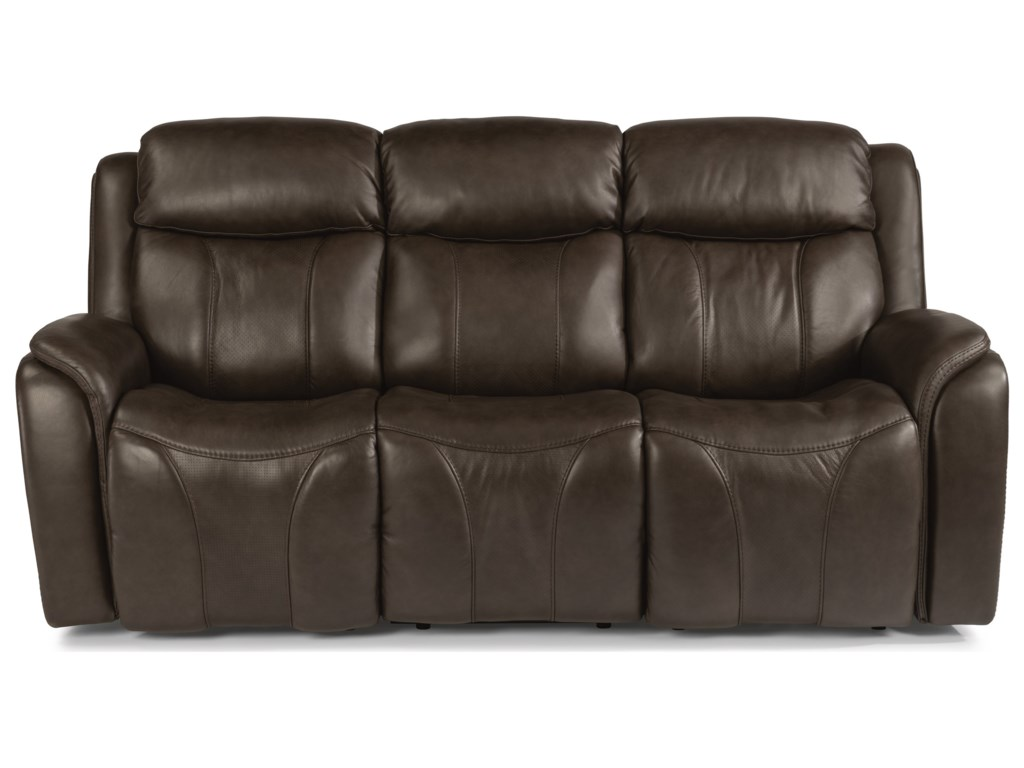 Latitudes - Paisley Contemporary Power Reclining Sofa with Power Headrest  and Lumbar by Flexsteel at Rooms and Rest