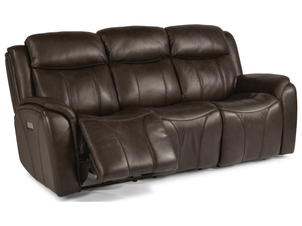 Flexsteel Latitudes - PaisleyPower Reclining Sofa with Power Headrest