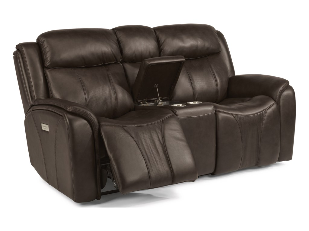 Flexsteel Latitudes - PaisleyPower Reclining Loveseat with Console