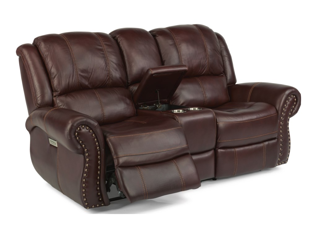 Flexsteel Latitudes - PattonPower Reclining Console Love Seat
