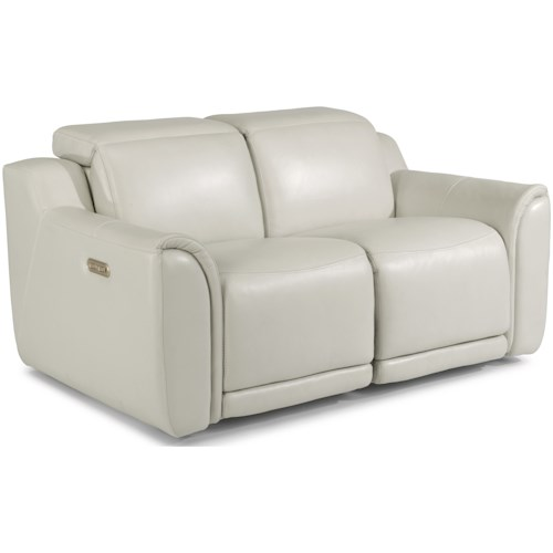 Flexsteel Latitudes - Reign Power Reclining Loveseat with Power Headrests