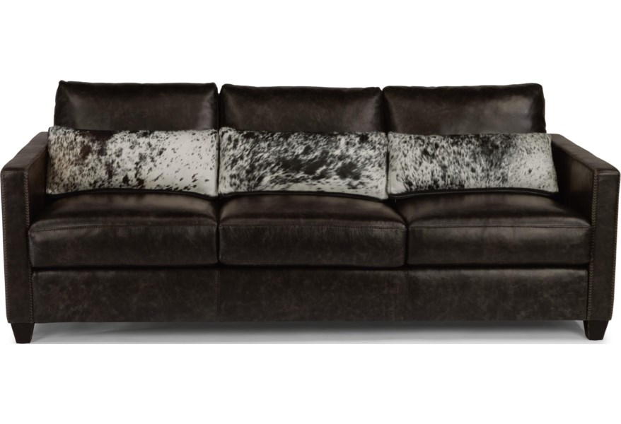 Flexsteel Latitudes - Roscoe Urban Rustic Sofa with Hair-on ...