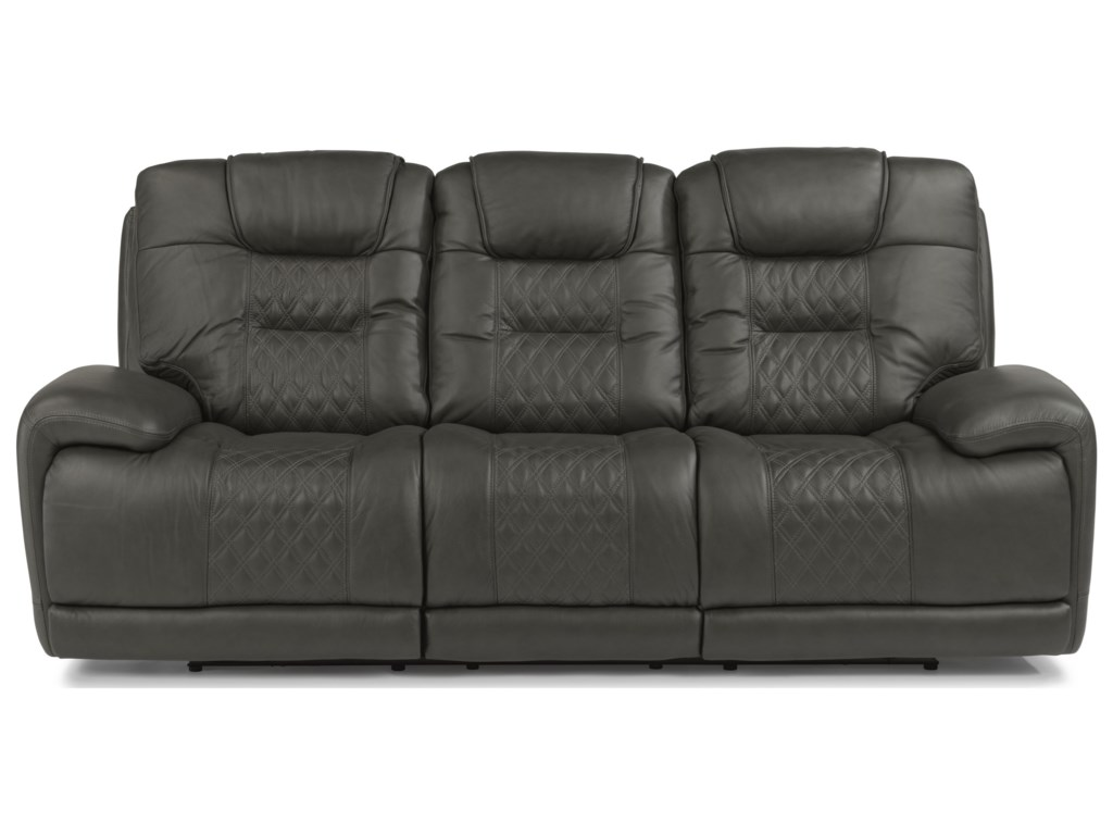 Flexsteel Benz Reclining Sofa With Headrest