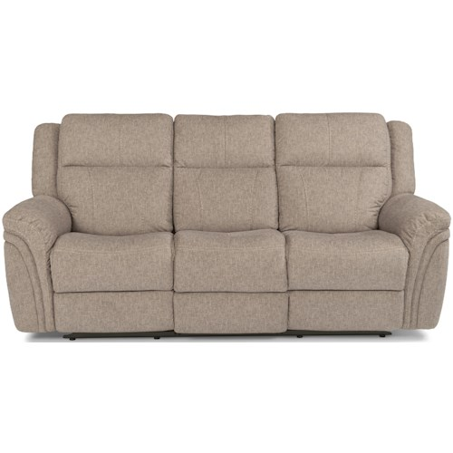 Flexsteel Latitudes - Silas Casual Power Reclining Sofa with Power Headrests and USB Port
