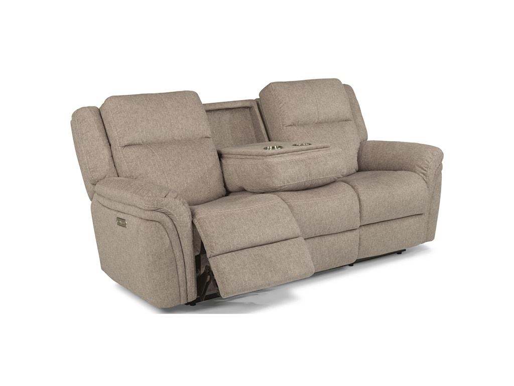 Flexsteel Latitudes - SilasPower Reclining Sofa with Power Headrest