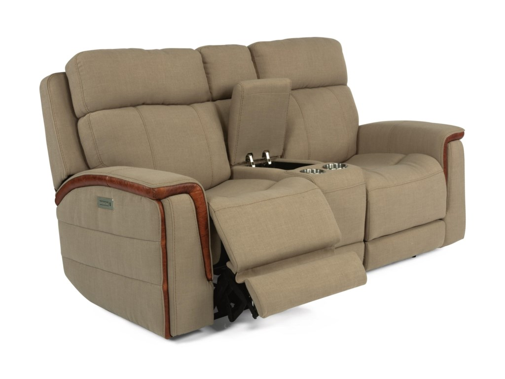 Flexsteel Latitudes - SnyderPower Console Loveseat