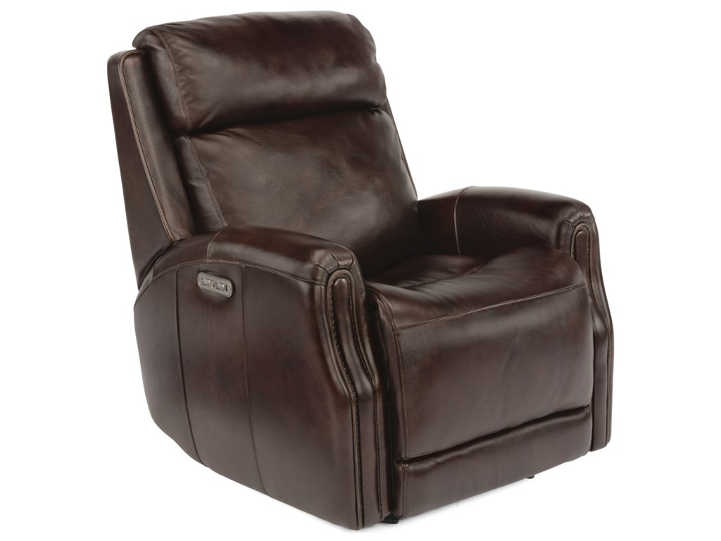 Flexsteel Latitudes - StanleyPower Gliding Leather Recliner