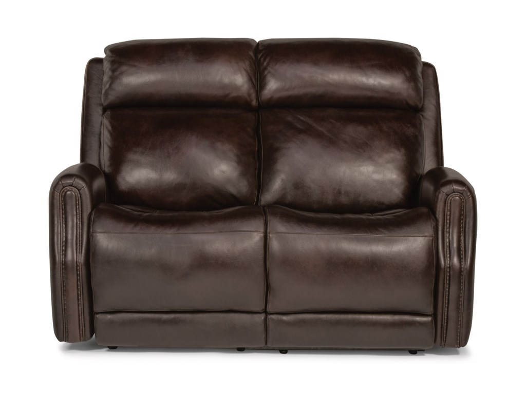 Flexsteel Latitudes - StanleyPower Reclining Leather Loveseat