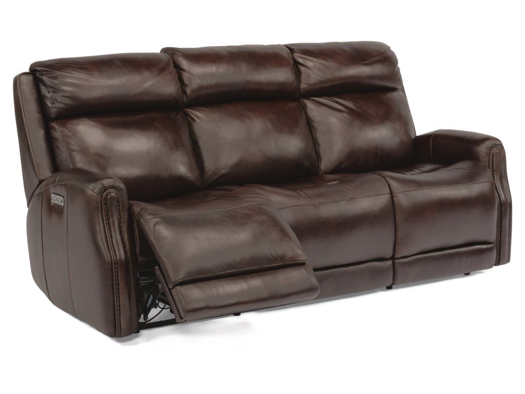 Flexsteel Latitudes - StanleyPower Reclining Leather Sofa