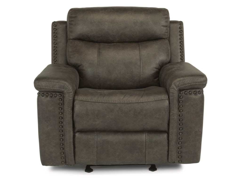 Flexsteel Latitudes - TrevorPower Gliding Recliner with Power Headrest