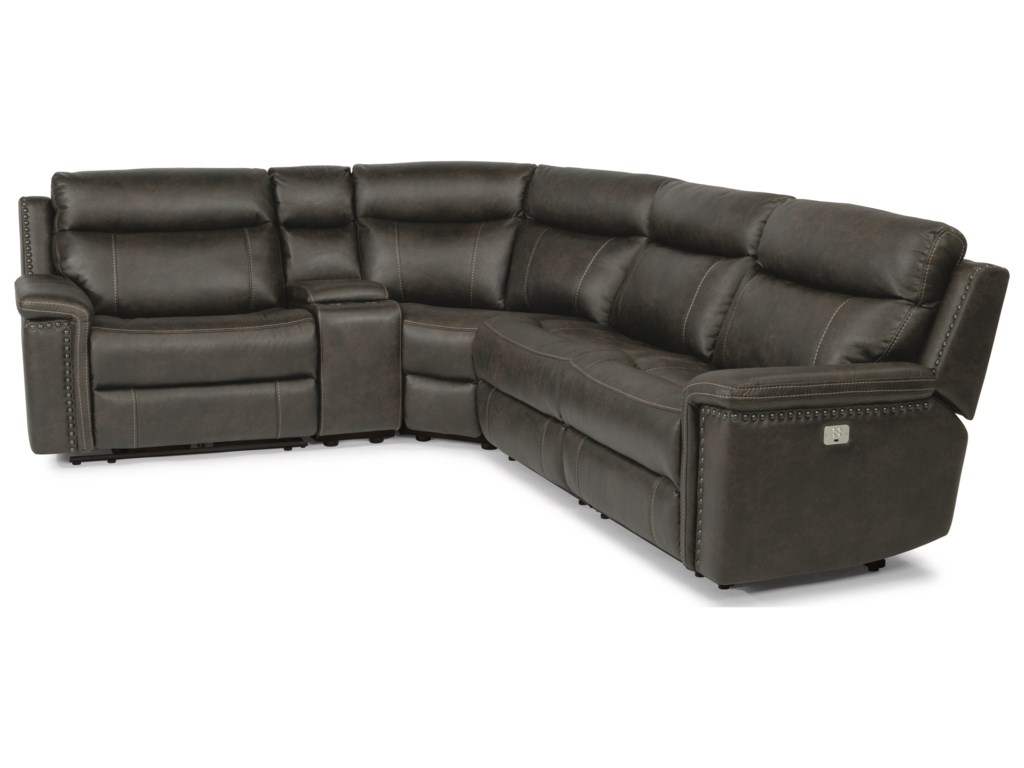 Flexsteel Latitudes - Trevor5 Piece Power Reclining Sectional