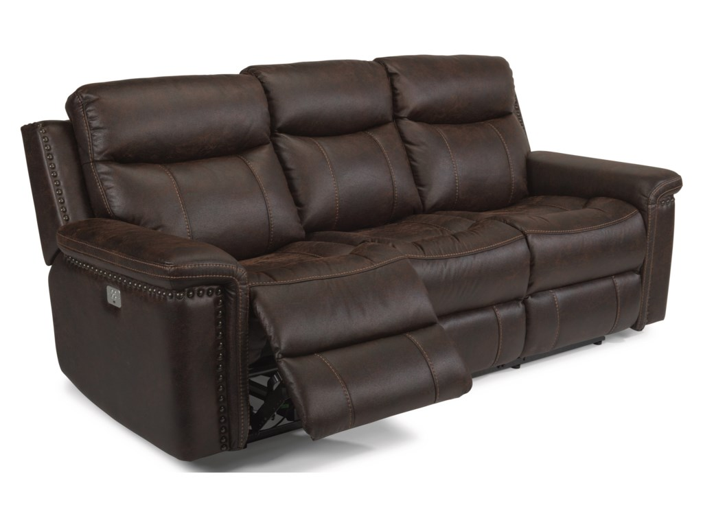 Flexsteel Latitudes - TrevorPower Reclining Sofa with Power Headrests