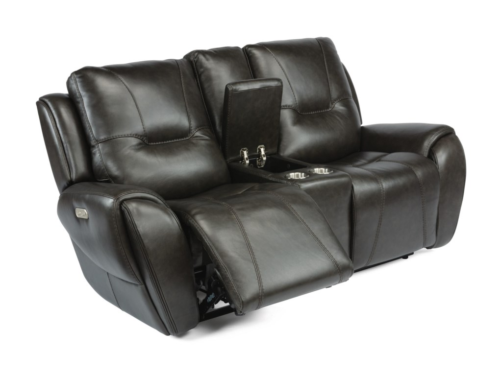 Flexsteel Latitudes - TripPower Reclining Console Loveseat
