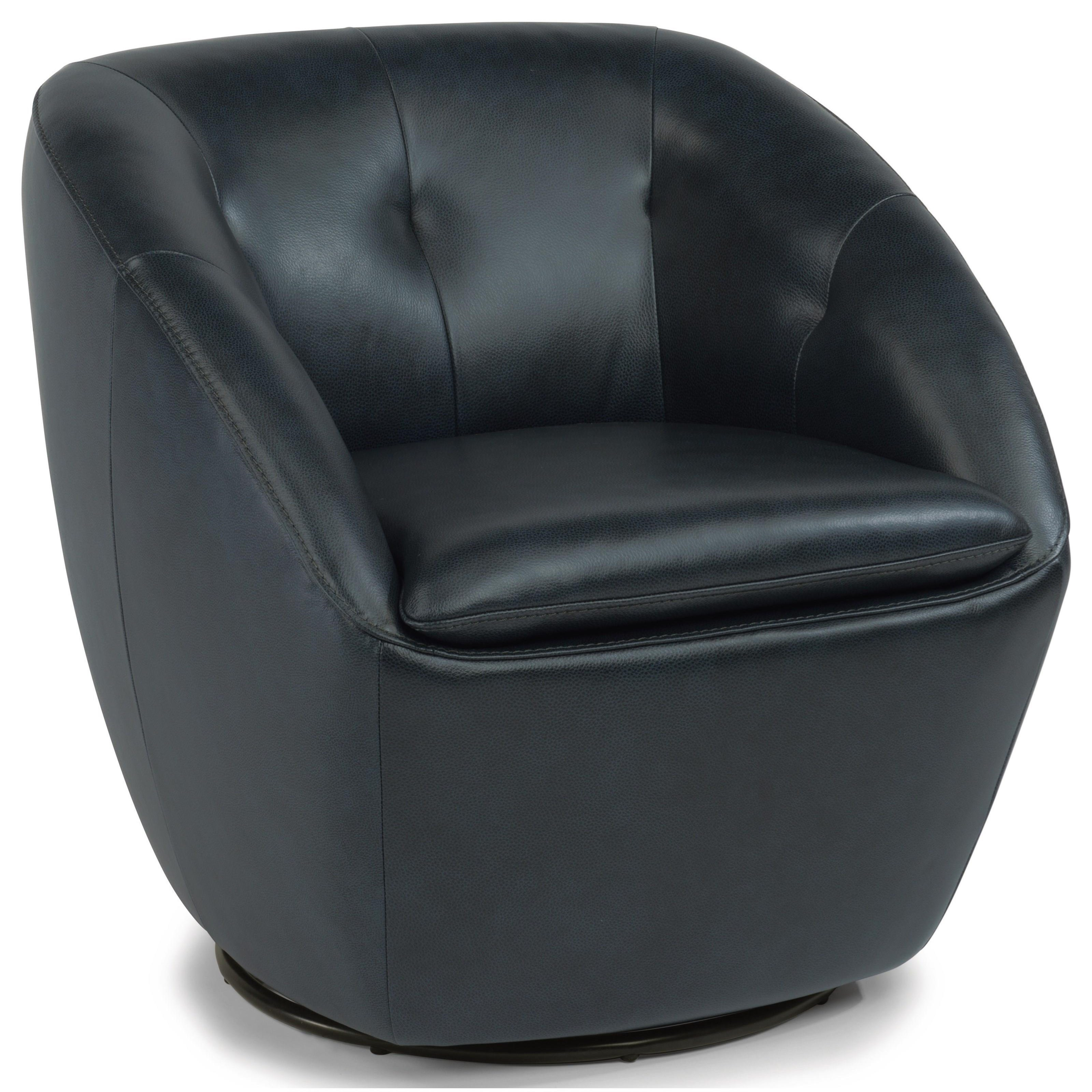 Contemporary Leather Swivel Chair