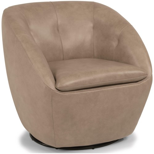 Flexsteel Latitudes - Wade Contemporary Leather Swivel Chair