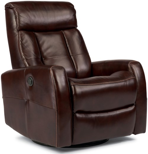Flexsteel Latitudes Go Anywhere Recliners Galen King-Size Power Swivel Glider Recliner