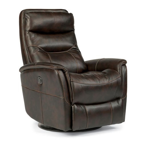 Leather Recliner Sofa Rooms To Go: Flexsteel Latitudes Go Anywhere Recliners 1392-53PQ Alden