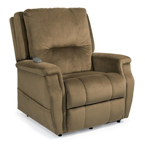 Flexsteel Latitudes Lift Chairs Julius Extra Large Three-Way Lift Recliner with Heavy Duty Steel Mechanism