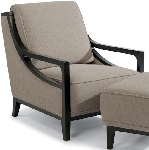 Flexsteel Latitudes-Ballard Contemporary Chair with Exposed Wood Frame