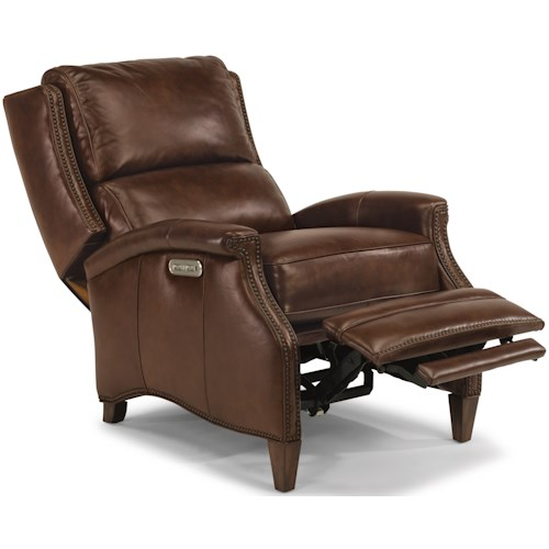 Flexsteel Latitudes-Bishop Transitional Power High-Leg Recliner with USB Port