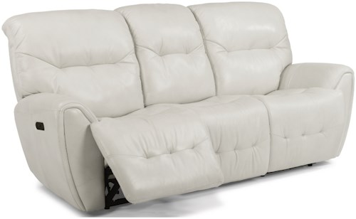 Flexsteel Latitudes-Blaise Contemporary Power Reclining Sofa with Power Headrest and USB Ports