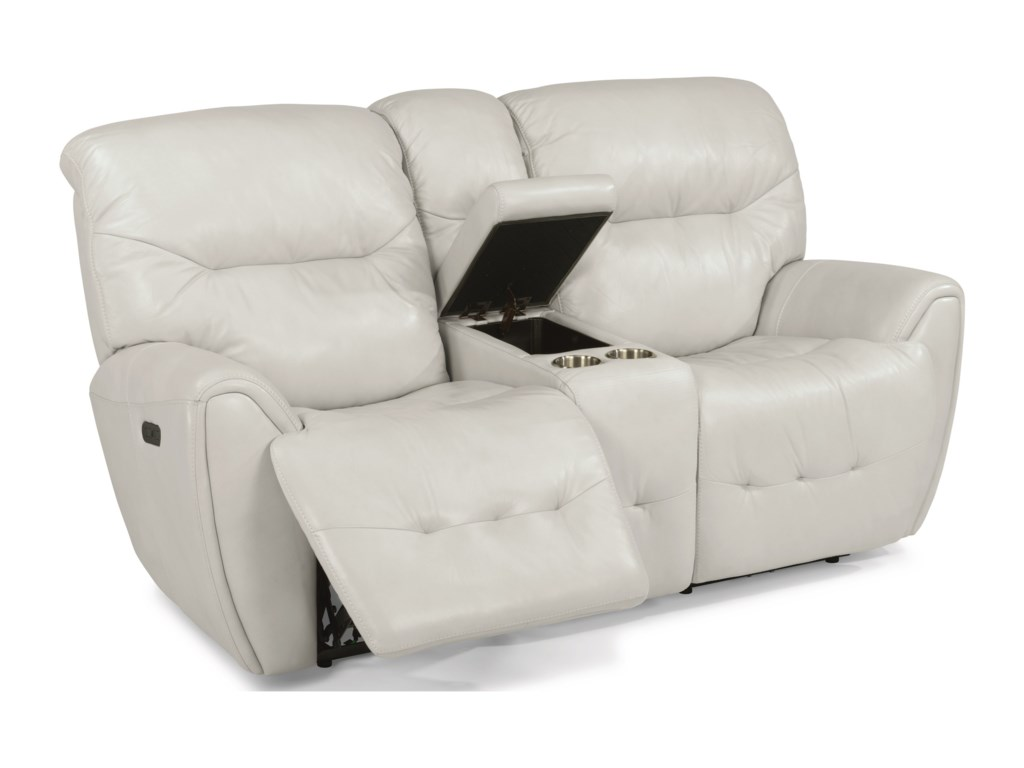 Flexsteel BlaisePower Reclining Loveseat with Power Headrest