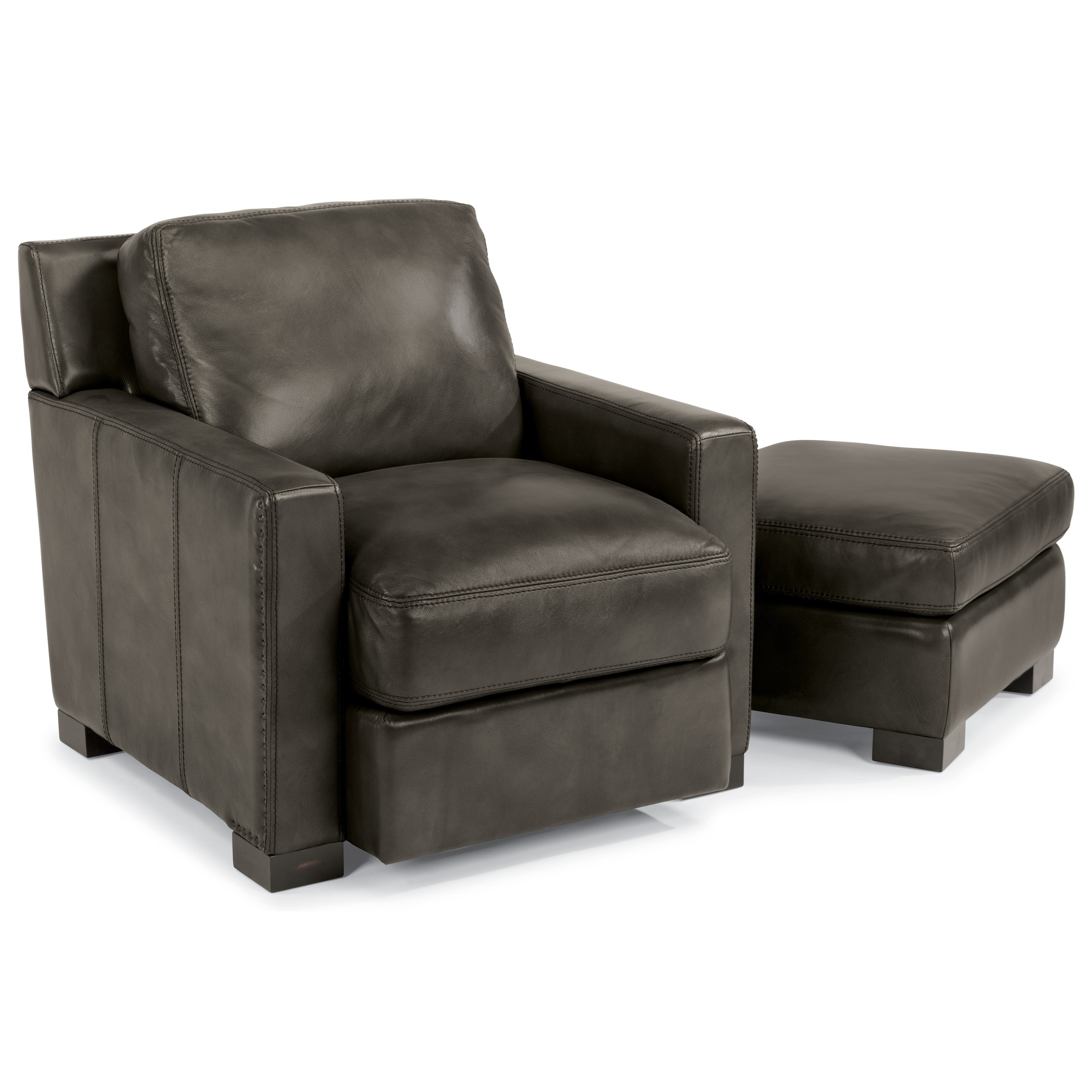 Flexsteel Latitudes Blake Contemporary Chair And Ottoman With Removable  Seat And Back Cushions