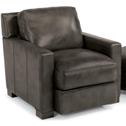 Flexsteel Latitudes-Blake Contemporary Chair with Removable Seat and Back Cushions