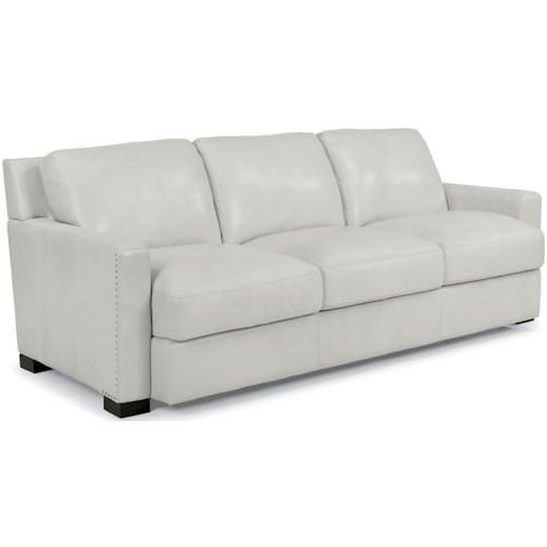 Flexsteel Latitudes-Blake Contemporary Sofa with Nailhead Trim Detail