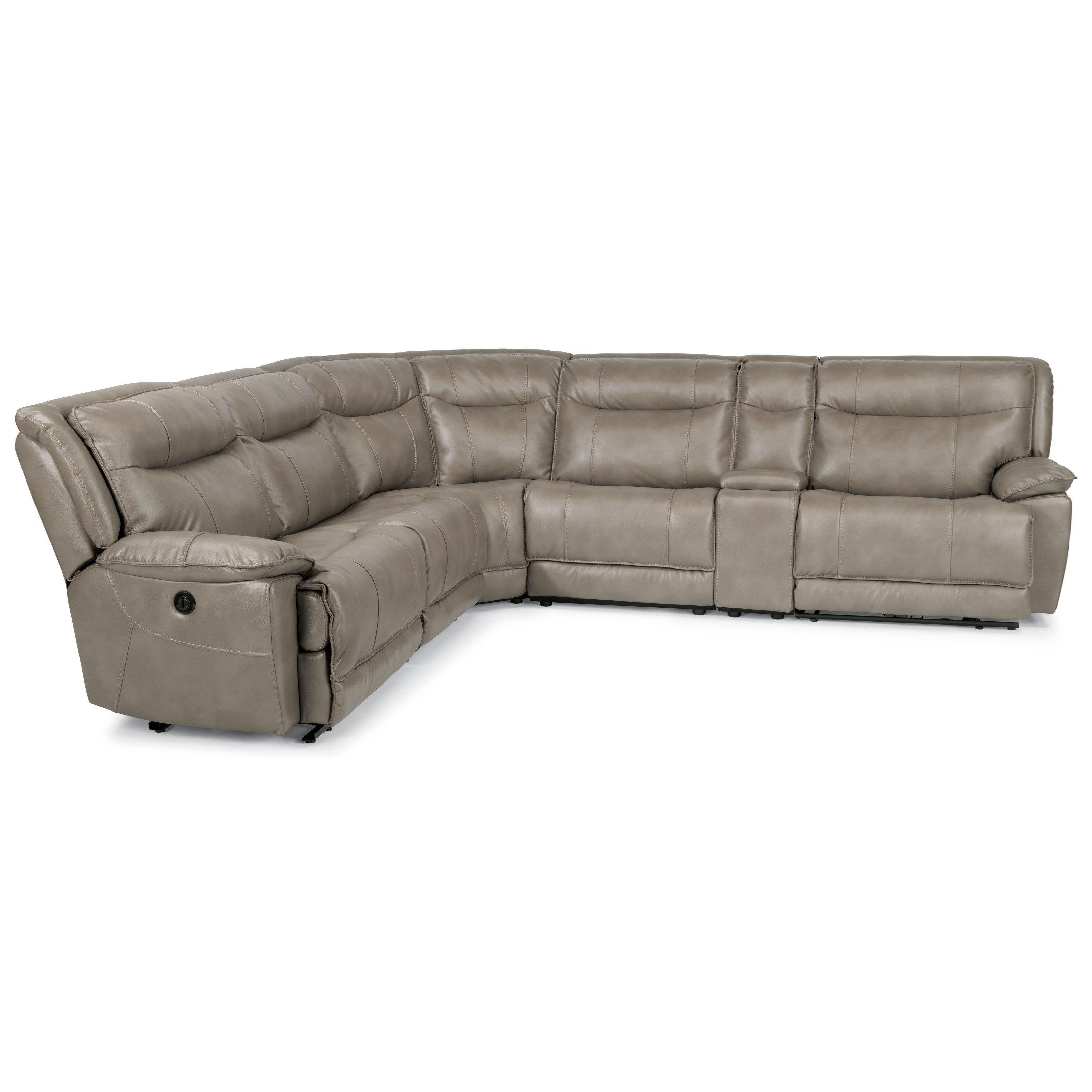 Flexsteel Latitudes-Bliss Six Piece Reclining Sectional Sofa with Cupholders and USB Charging Ports  sc 1 st  Wayside Furniture : reclining sectional with cup holders - Sectionals, Sofas & Couches