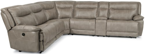 Flexsteel Latitudes-Bliss Six Piece Reclining Sectional Sofa with Cupholders and USB Charging Ports